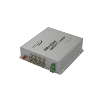1 Kanal Video Coax Çevirici, +1 Kanal RS-485/422 Datalı